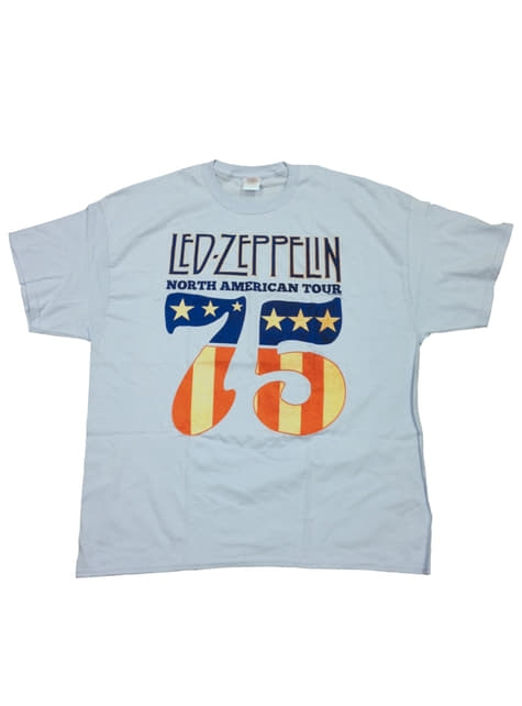 Led Zeppelin 1975 Tour T-Shirt voor mannen