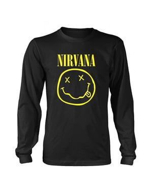 T-shirt Nirvana Smiley Logga för vuxen Unisex