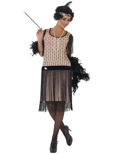 Glamourøs charleston kostume til kvinder
