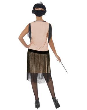 Lumoava Flapper-tyttö-asu aikuisille