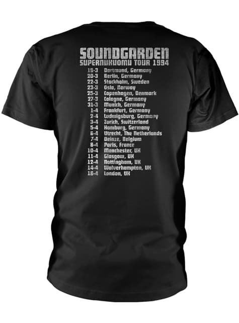 T-shirt Soundgarden Superunknown Tour 94 para homem
