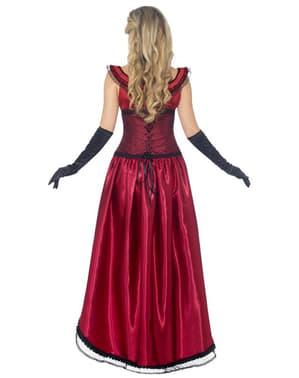 Fato de dama de bordel vermelho Deluxe