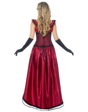 Rødt Burlesque kostume deluxe