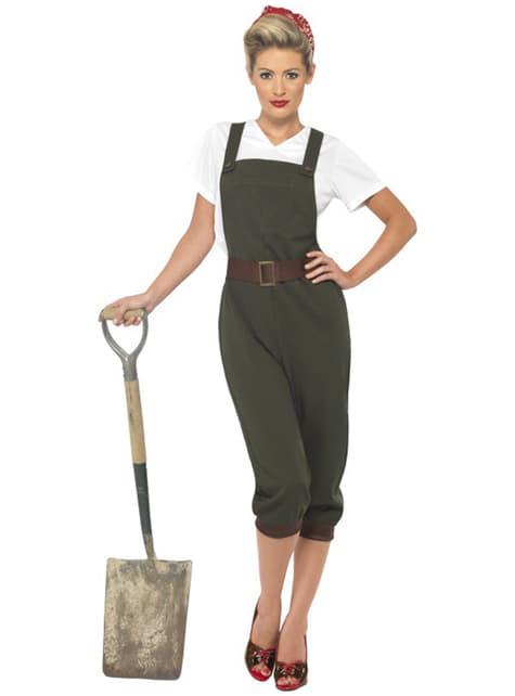 Werkneemster Tweede Wereldoorlog Kostuum