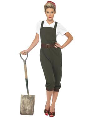 Disfraz de trabajadora durante la Segunda Guerra Mundial