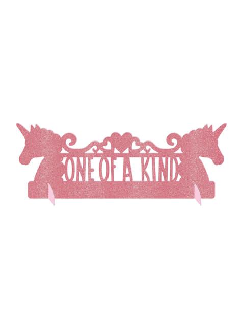Decoración de mesa brillante de unicornio - Pretty Unicorn