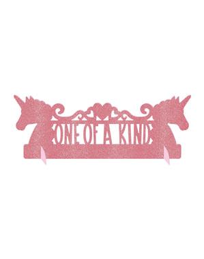 Bordsdekoration glänsande prinsessa enhörning