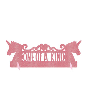 Dekoracja stołu z brokatem księżniczka jednorożec