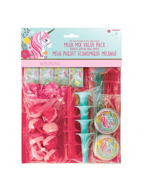 48 pieces of assorted Princess Unicorn toys - Pretty Unicorn