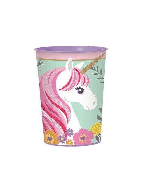 1 vaso reutilizable de plástico duro de unicornio - Pretty Unicorn