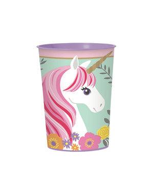 Glas i hårdplast prinsessa enhörning