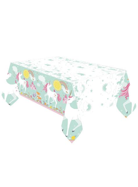 Toalha de mesa de princesa unicórnio