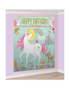 Enhjørning Photo Booth Sæt - Pretty Unicorn