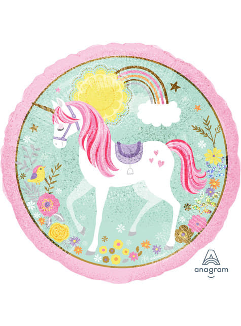 Globo de foil de unicornio (43cm) - Pretty Unicorn
