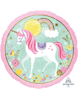 Balão foil de princesa unicórnio - Pretty Unicorn