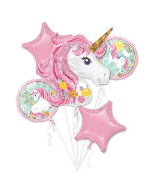 Принцеса єдиноріг фольга повітряні кулі букет