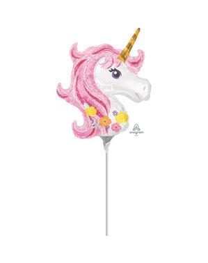 Kis egyszarvú fólia léggömb (22x25 cm) - Pretty Unicorn