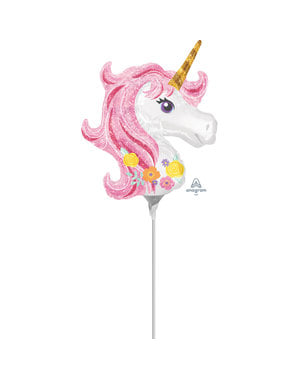 Small Unicorn Princess foil balloon (22x25 cm) - Pretty Unicorn
