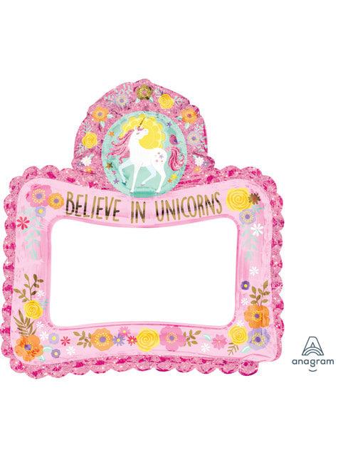 Moldura de Photocall insuflável de princesa unicórnio