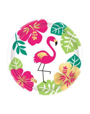 8 platos mediano Hawai (18cm) - Aloha