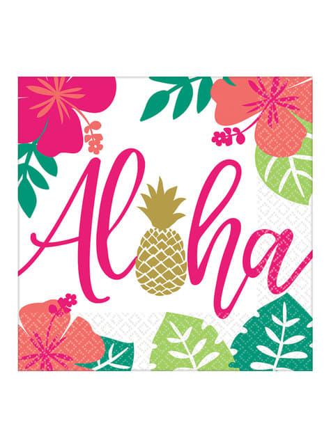16 aloha napkins (33x33cm) - Aloha