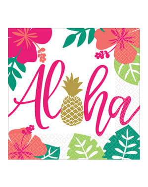 Aloha Flamingo Servietten Set 16-teilig