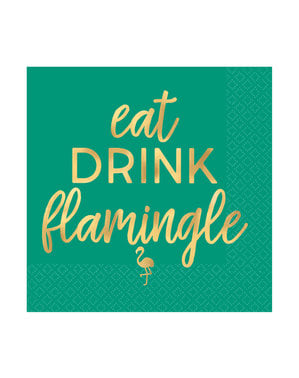 16 Flamingo drinks napkins (13x13 cm)