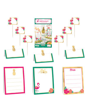 Kit de 12 carteles decorativos para mesa - Aloha