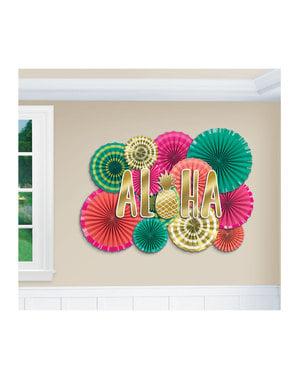 Set väggdekoration aloha