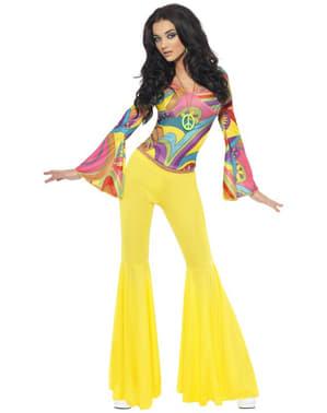 Disfraz de hippie amigable para mujer