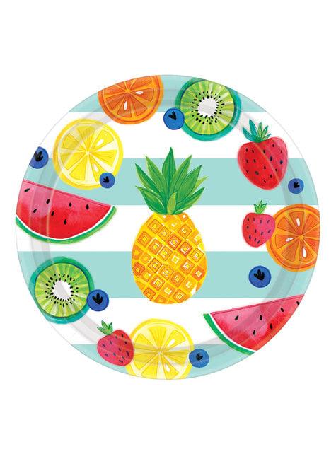 8 platos tutti fruti (27 cm)