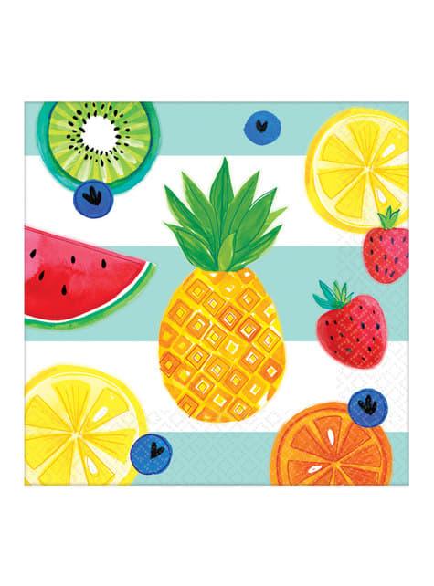16 servilletas tutti fruti (33x33 cm)