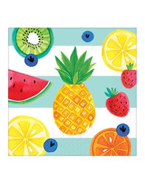 16 tutti fruti napkins (33x33 cm)
