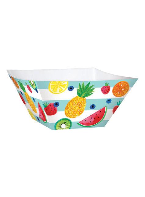 3 bols en papier tutti fruti