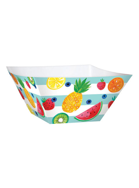 3-teiliges Tutti Frutti Pappschalen Set