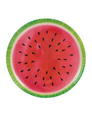 Bandeja para decoração de melancia