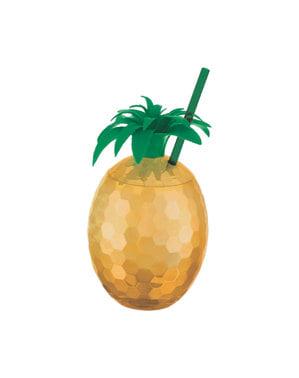 Copo decorativo com forma de ananás