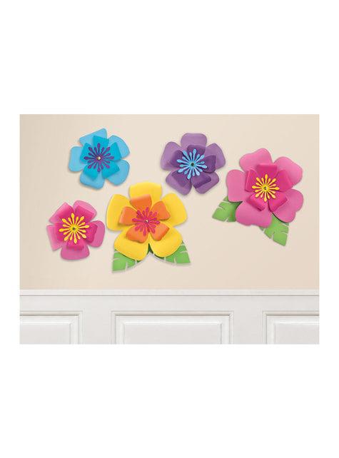 5 flores hawaianas decorativas