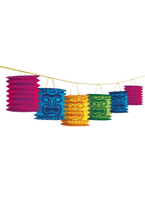 Guirnalda con decoraciones colgantes Tiki Hawái