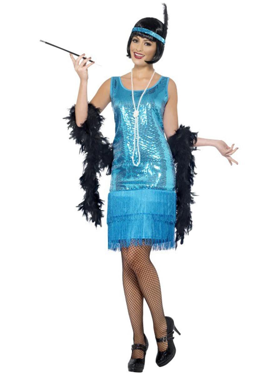 De De Plus Déguisement Funidelia Amusants Amusants Pour Bleu Les Charleston Femme 1YqPYd