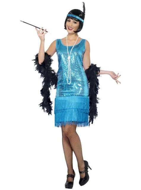 Blue Flapper Girl Adult Costume