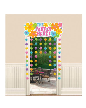 Hawaii The Party is Here curtain