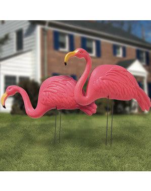 Set 2 tokoh flamingo dekoratif