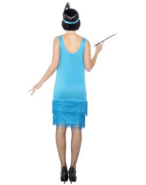 Déguisement de charleston bleu pour femme