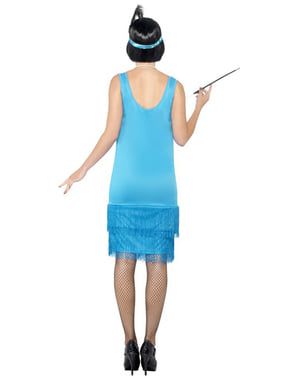 Възрастен костюм за момиче от синята рокля