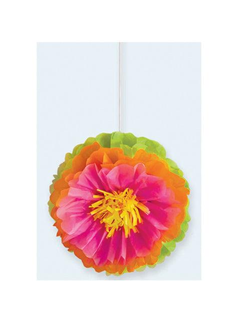 3 fleurs en papier décoratives