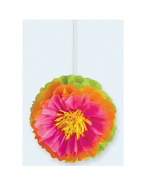 3 decorative paper flowers
