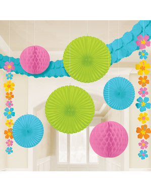 Hanging Hibiscus Flowers decoration kit