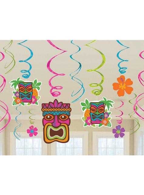 Kit de decoración colgante Tiki Hawái