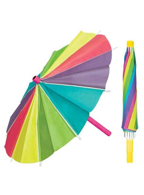 3 sombrillas de papel de colores - para tus fiestas